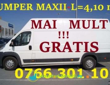 Transport marfa IEFTIN, MUTARI MOBILA,Moluz, L=4.10m. MANIPULANTI tineri