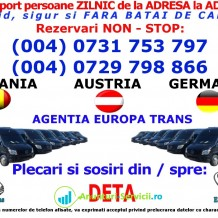 Zilnic Transport persoane ruta Romania-Austria-Germania