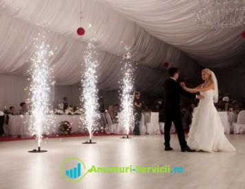 Prestez servicii profesionale nunta, fum greu cu gheata carbonica