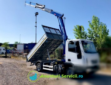 Închiriez Buldoexcavator/Autobasculanta/Camioneta HIAB Transport Terasamente Demolari