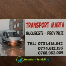 Transport marfa in Bucuresti si provincie
